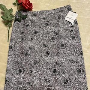 LIZ CLAIBORNE Paisley Print Pencil Skirt Sz. 8
